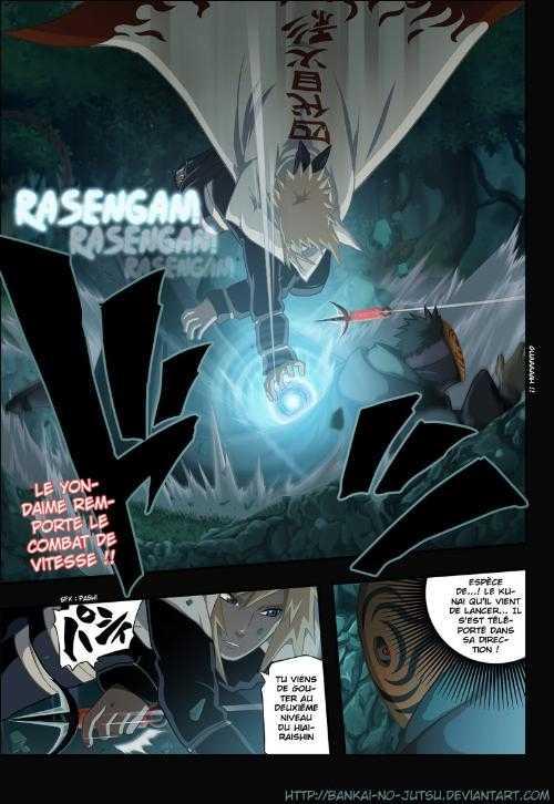 求火影忍者漫画502画彩色版的 四代的战斗很精彩啊