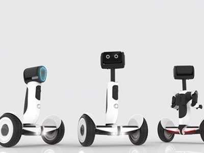 代步机器人 两种形态可化身代步车的萌萌机器人