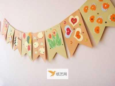 自制小彩旗 自制幼儿园教室彩旗的方法教程
